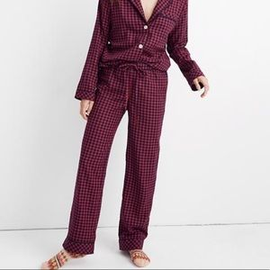 Madewell bedtime pajama PANTS gingham check